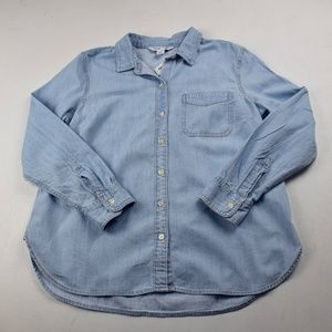 NWT Old Navy Blue Jean Button Down Shirt